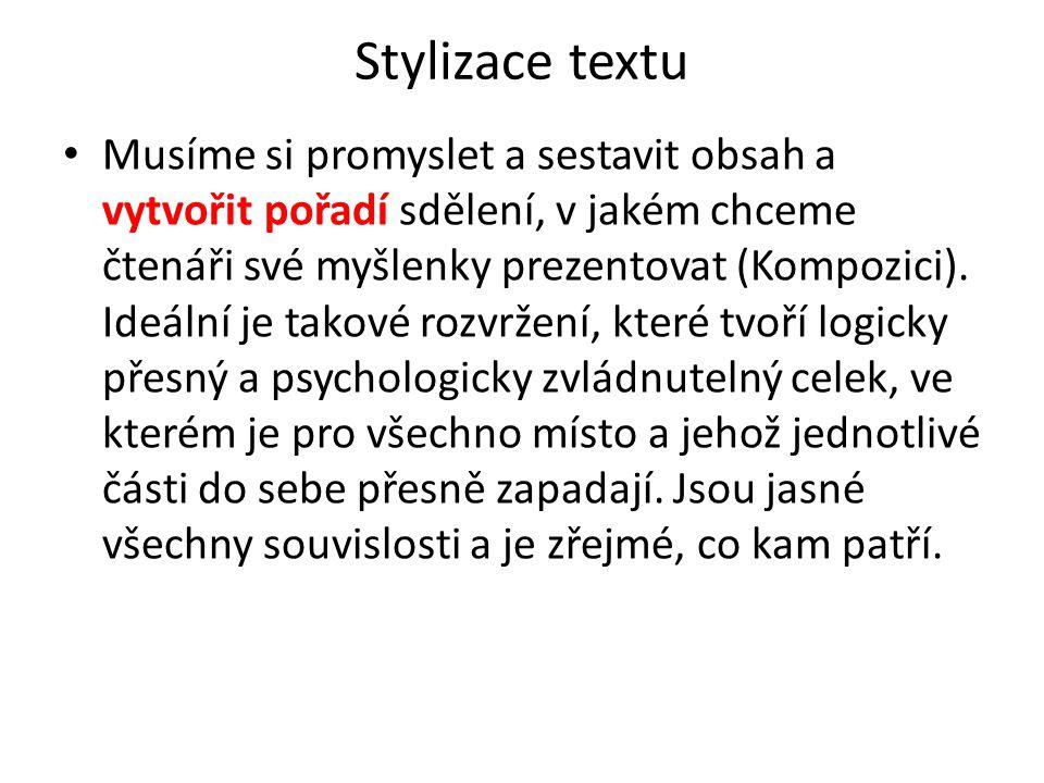 Stylizace textu