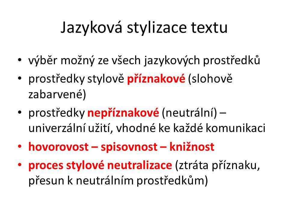 Jazyková stylizace textu