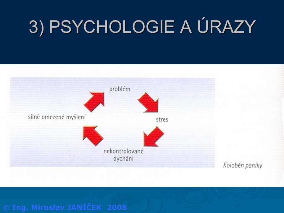 3) PSYCHOLOGIE A ÚRAZY © Ing. Miroslav JANÍČEK 2008