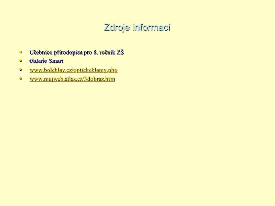 Zdroje informací Učebnice přírodopisu pro 8. ročník ZŠ Galerie Smart