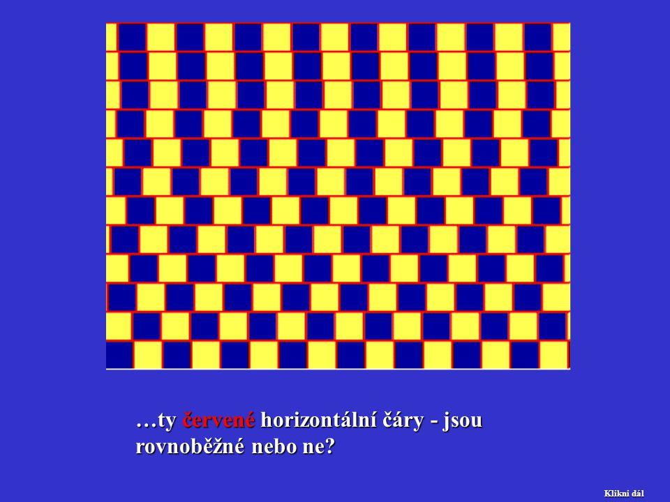 …ty červené horizontální čáry - jsou rovnoběžné nebo ne