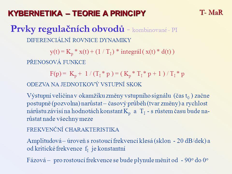Prvky regulačních obvodů - kombinované - PI