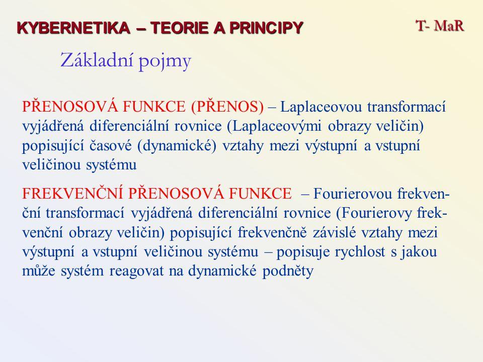 Základní pojmy T- MaR KYBERNETIKA – TEORIE A PRINCIPY