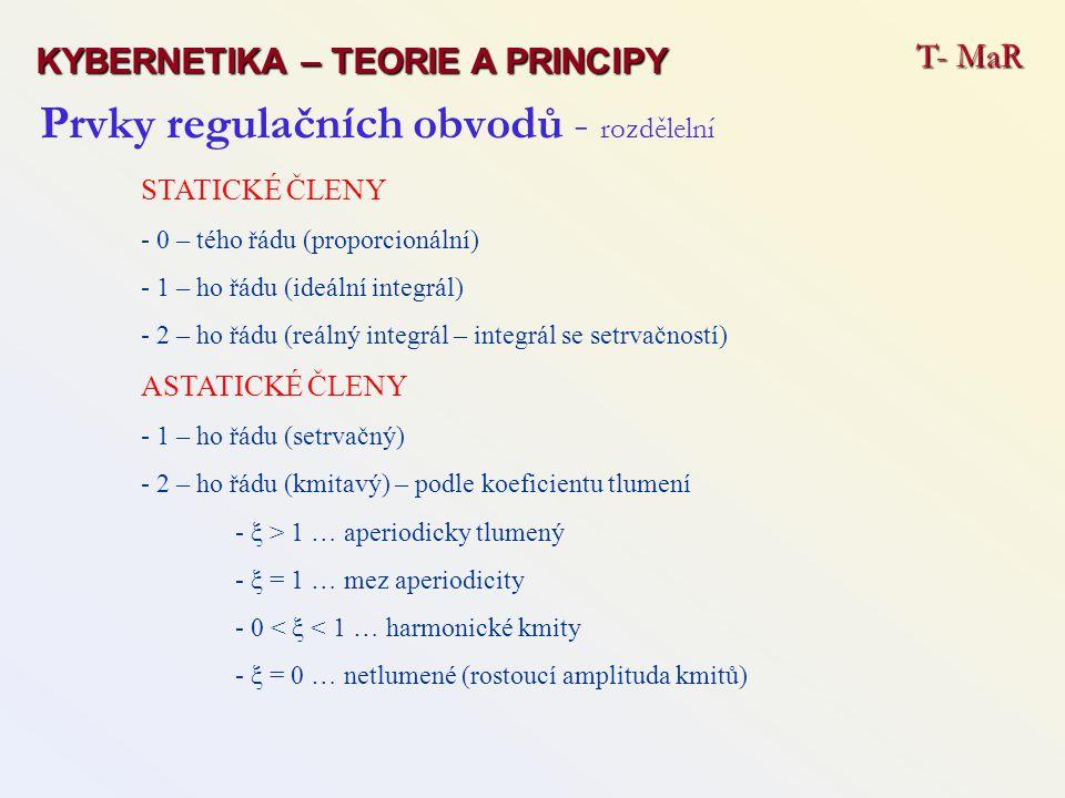Prvky regulačních obvodů - rozdělelní