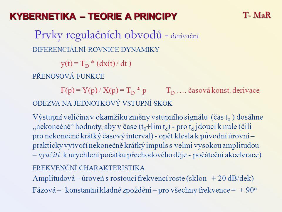 Prvky regulačních obvodů - derivační