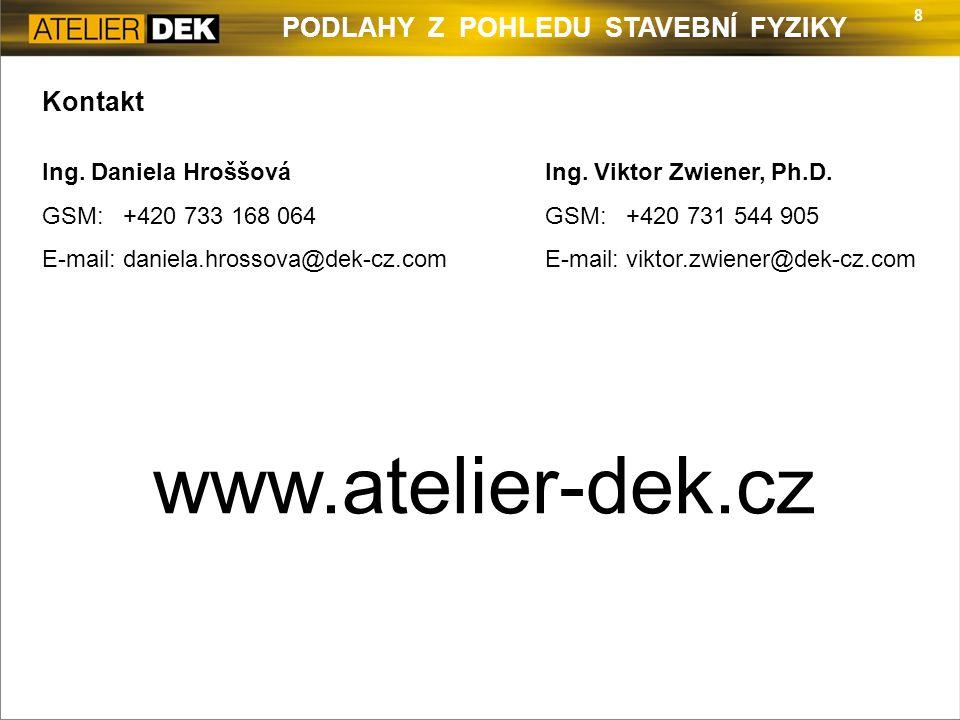 www.atelier-dek.cz Kontakt Ing. Daniela Hroššová GSM: +420 733 168 064