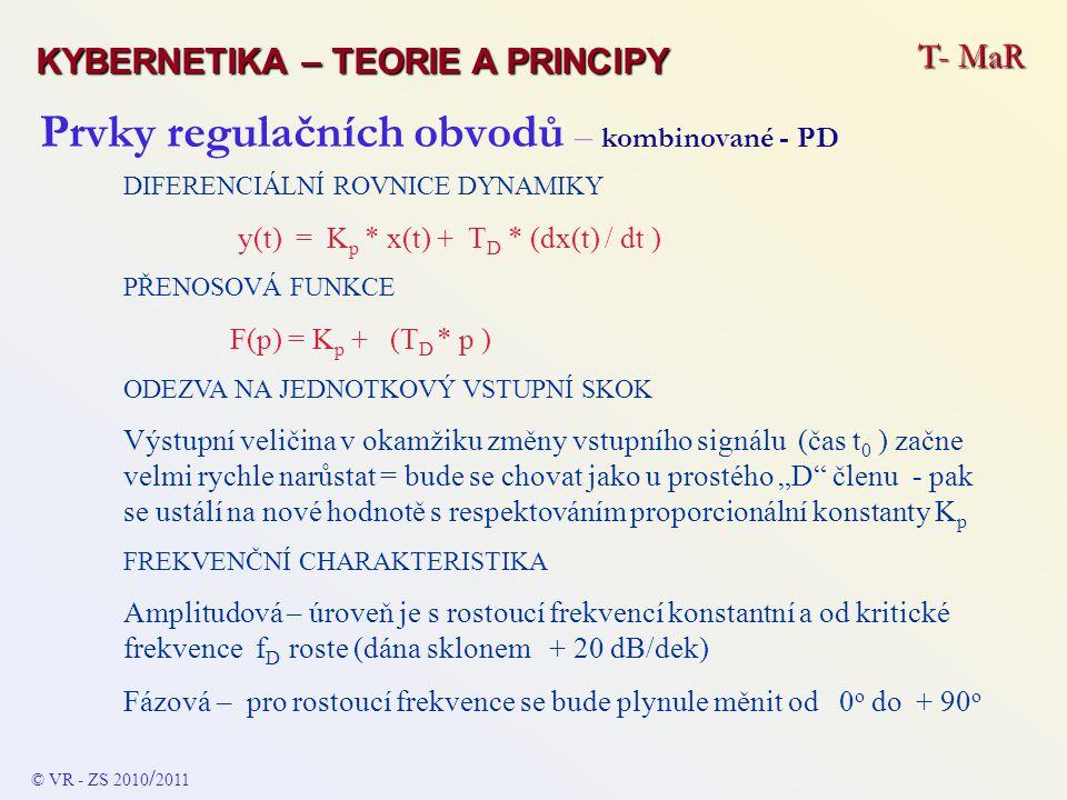Prvky regulačních obvodů – kombinované - PD