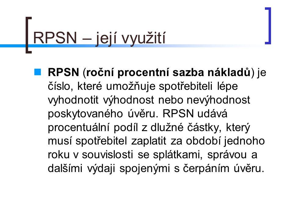 RPSN – její využití