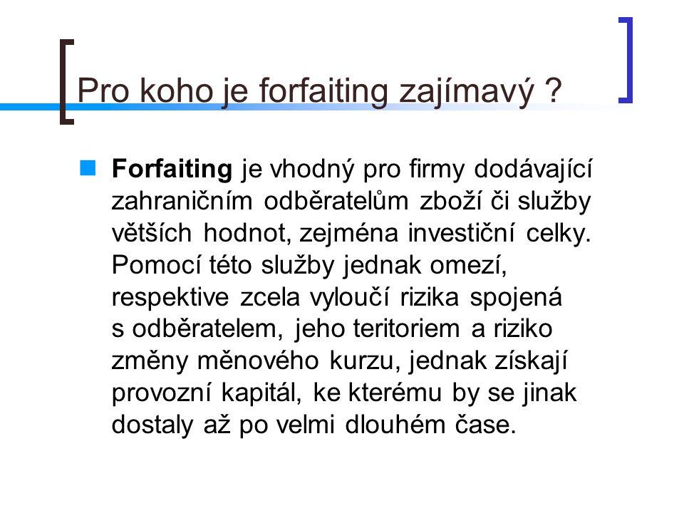 Pro koho je forfaiting zajímavý