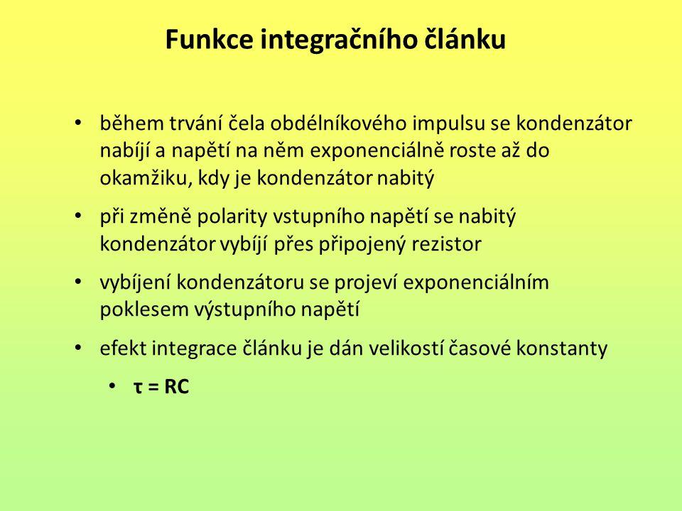 Funkce integračního článku