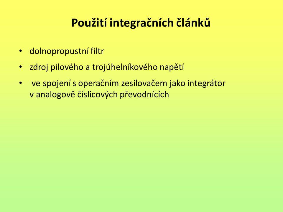 Použití integračních článků