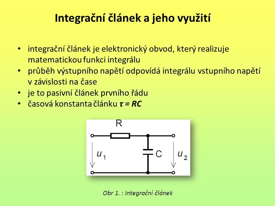 Integrační článek a jeho využití