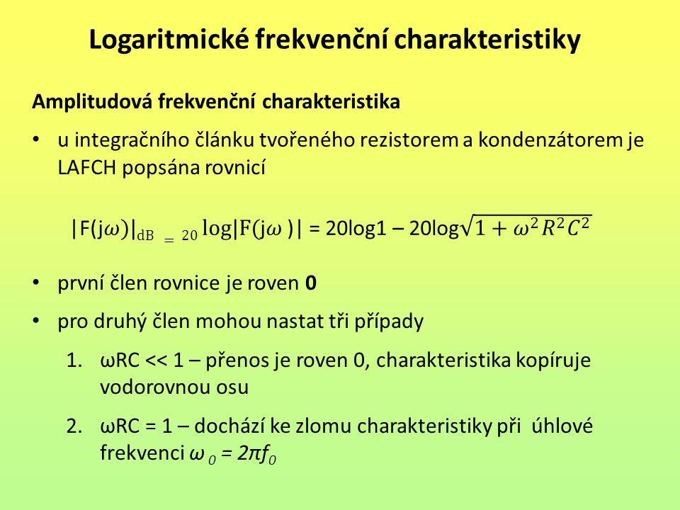 Logaritmické frekvenční charakteristiky