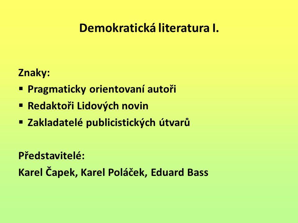Demokratická literatura I.