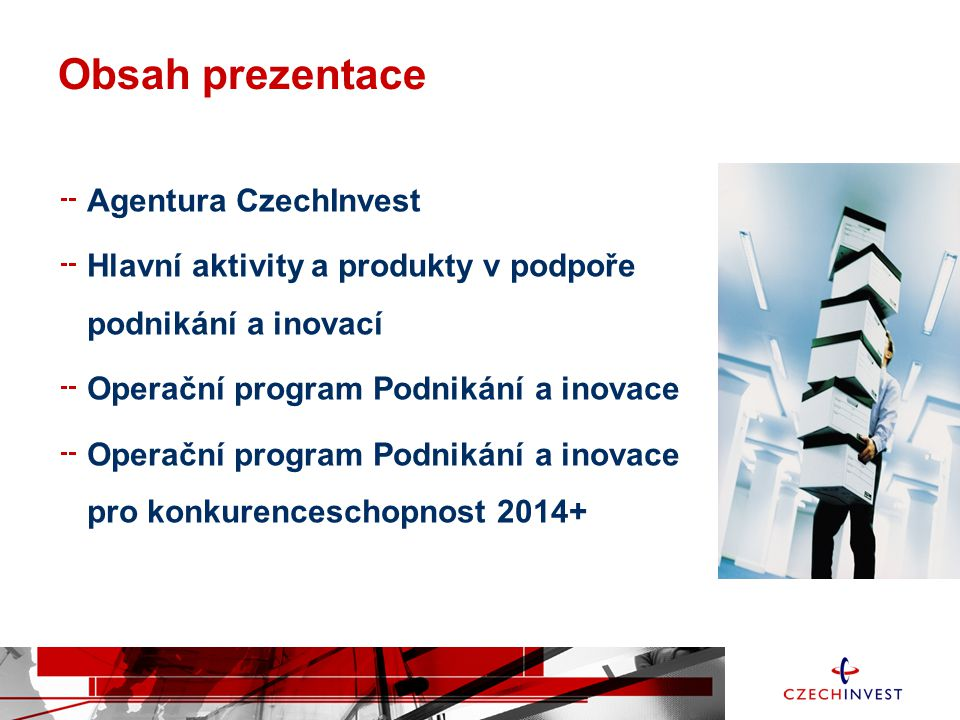 Obsah prezentace Agentura CzechInvest
