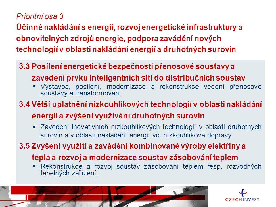 3.3 Posílení energetické bezpečnosti přenosové soustavy a