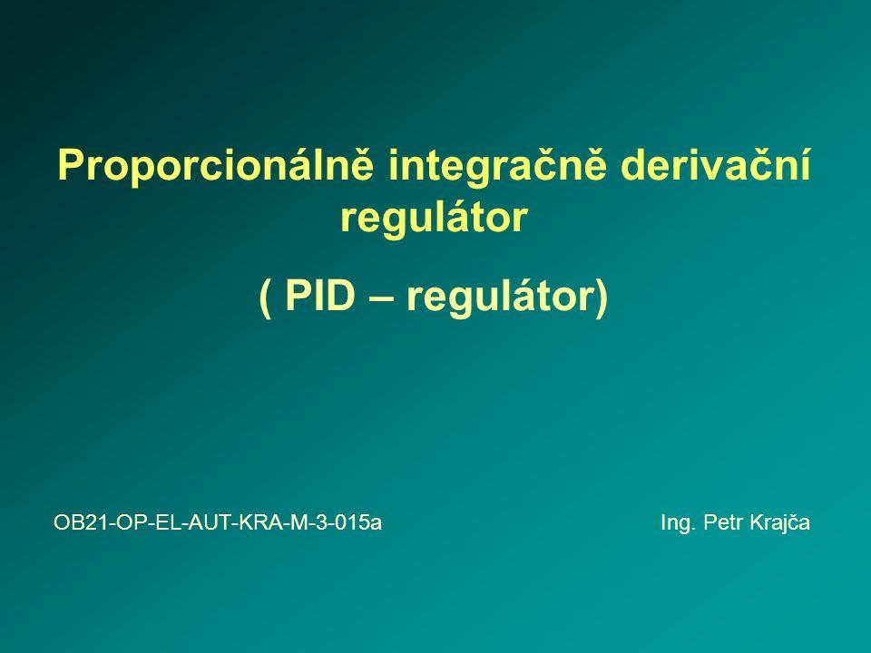 Proporcionálně integračně derivační regulátor