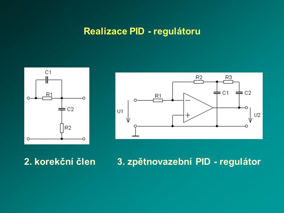 Realizace PID - regulátoru 3. zpětnovazební PID - regulátor