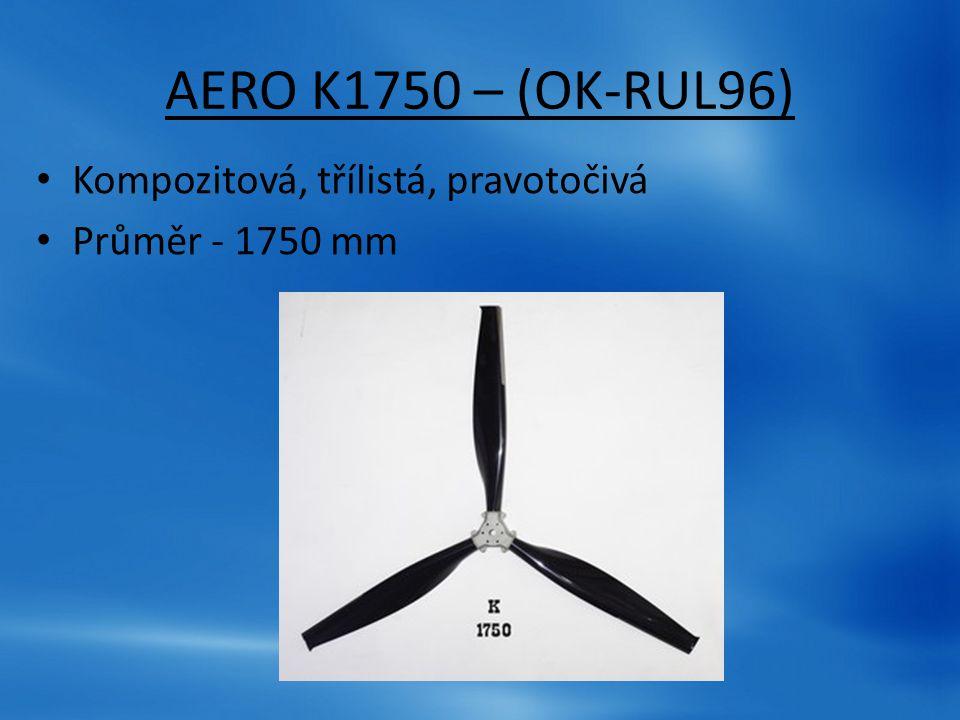 AERO K1750 – (OK-RUL96) Kompozitová, třílistá, pravotočivá