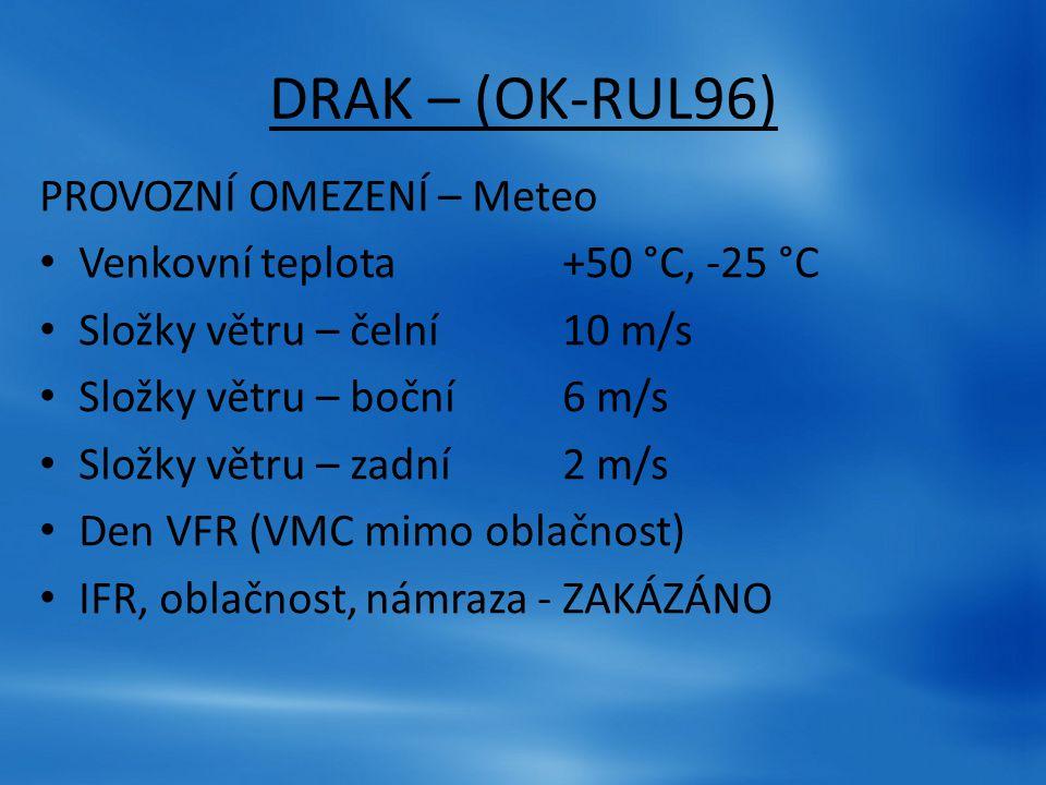 DRAK – (OK-RUL96) PROVOZNÍ OMEZENÍ – Meteo