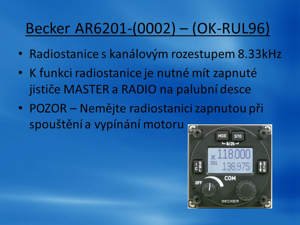 Becker AR6201-(0002) – (OK-RUL96)