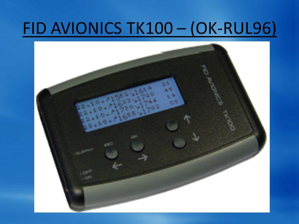 FID AVIONICS TK100 – (OK-RUL96)