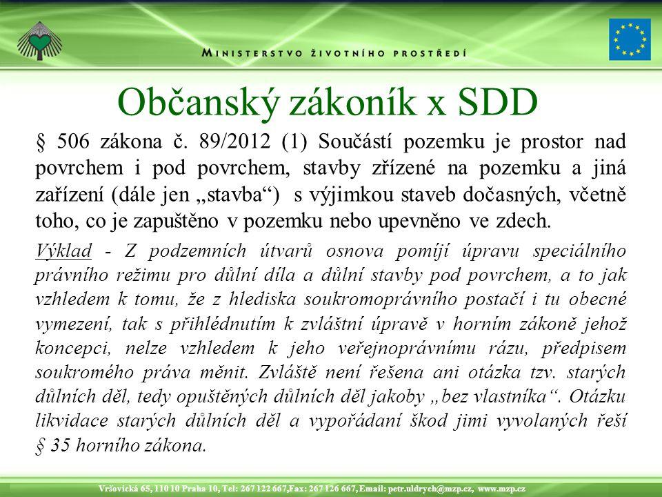 Občanský zákoník x SDD