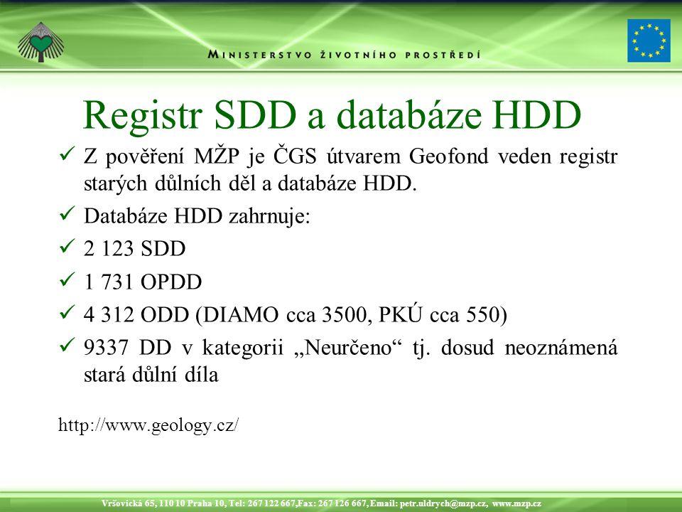 Registr SDD a databáze HDD