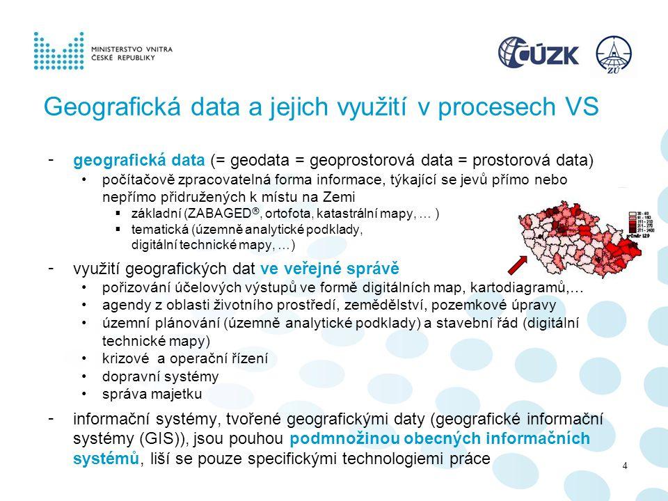 Geografická data a jejich využití v procesech VS