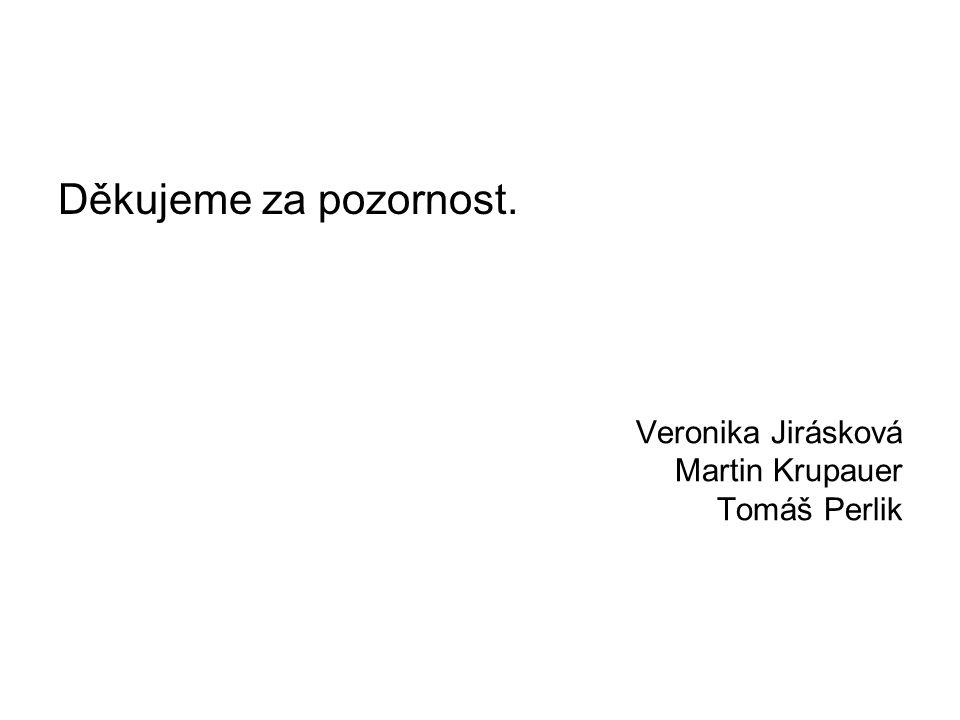 Veronika Jirásková Martin Krupauer Tomáš Perlik