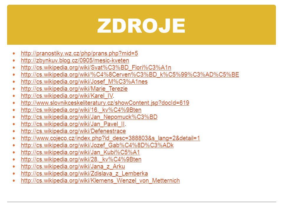 ZDROJE http://pranostiky.wz.cz/php/prans.php mid=5