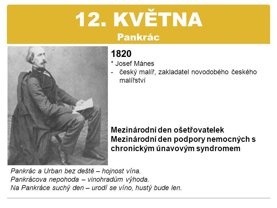 12. KVĚTNA Pankrác 1820 Mezinárodní den ošetřovatelek