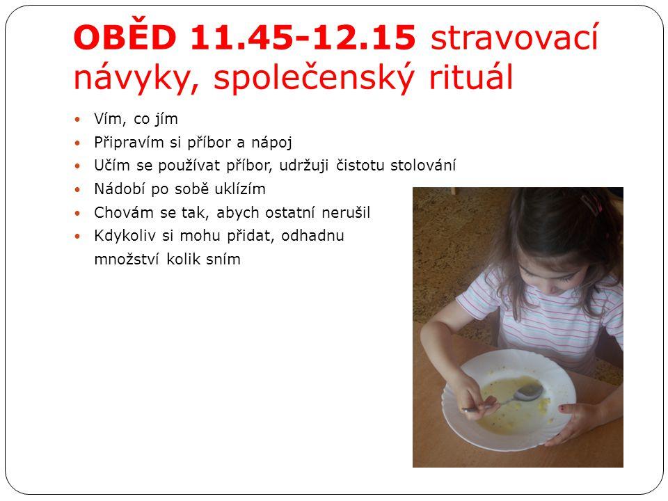 OBĚD 11.45-12.15 stravovací návyky, společenský rituál