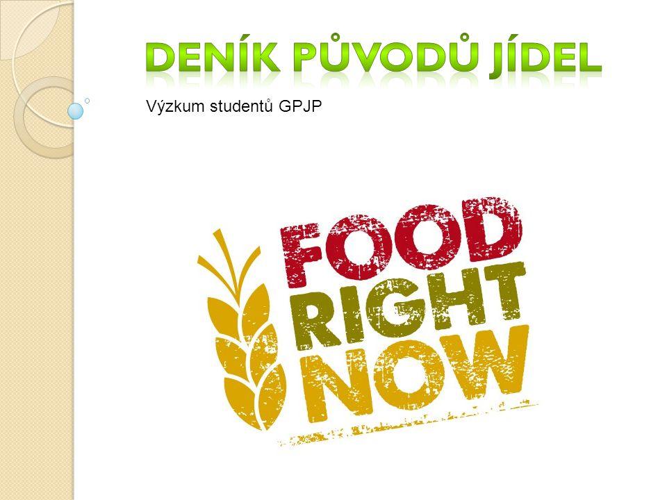 Deník původů jídel Výzkum studentů GPJP