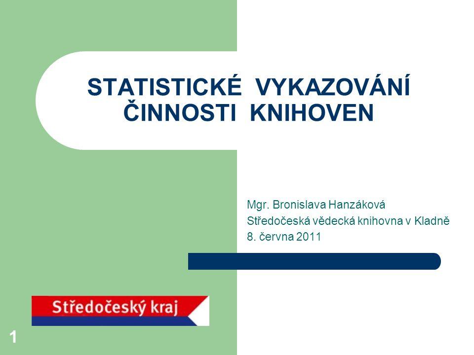 STATISTICKÉ VYKAZOVÁNÍ ČINNOSTI KNIHOVEN
