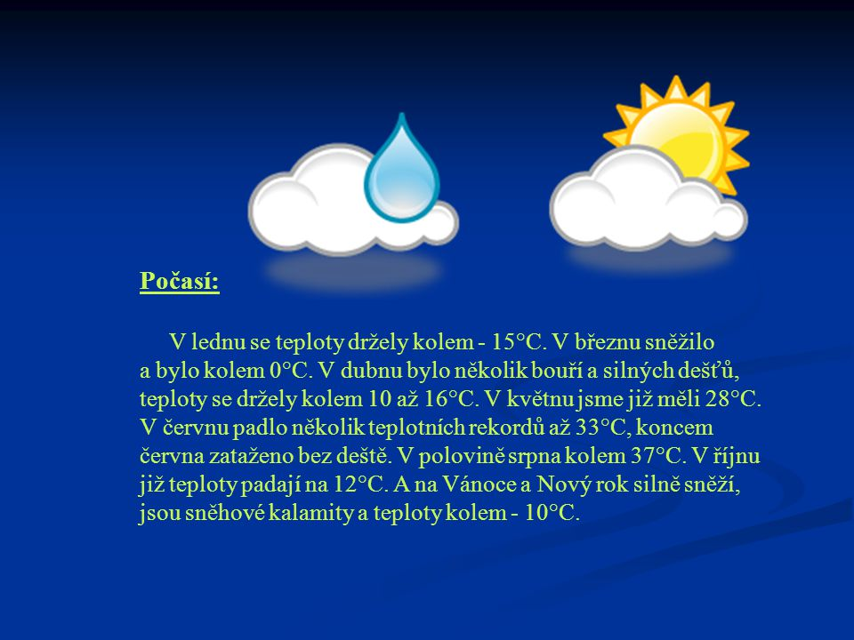 Počasí: