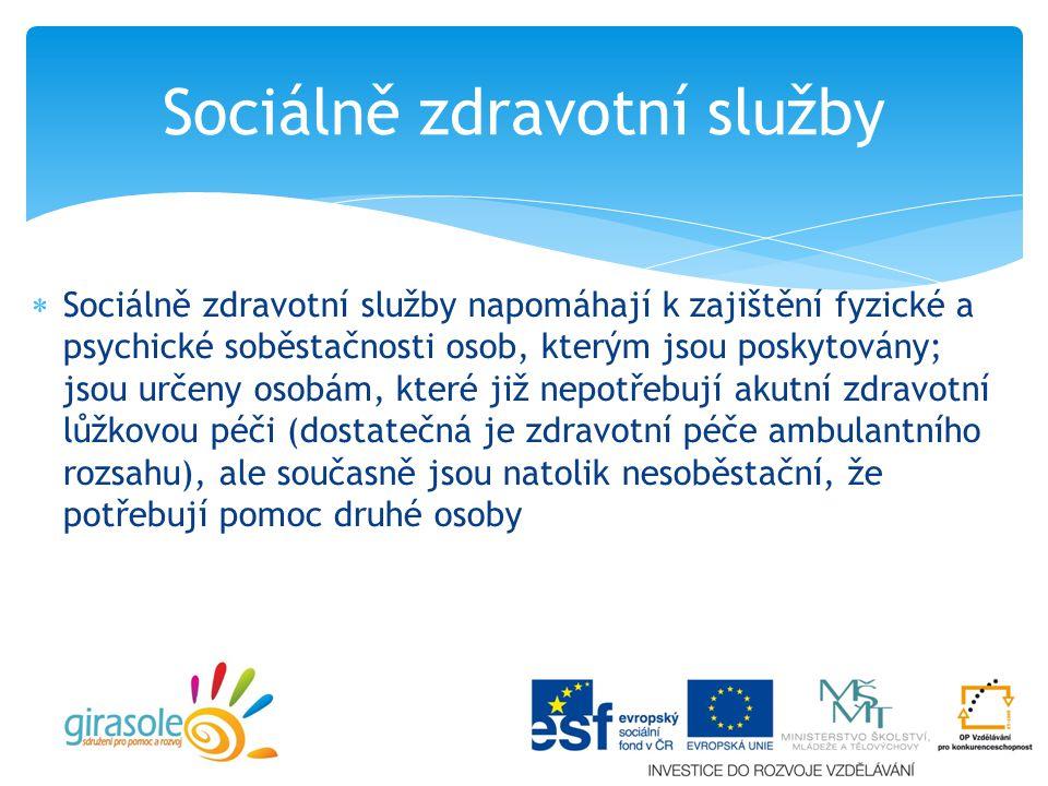 Sociálně zdravotní služby