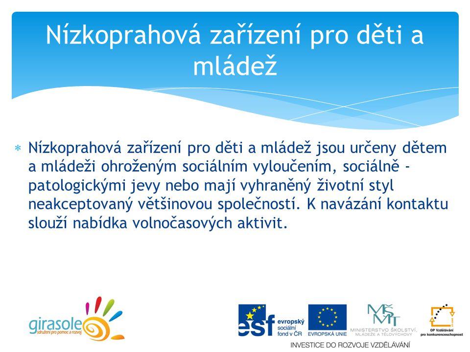 Nízkoprahová zařízení pro děti a mládež