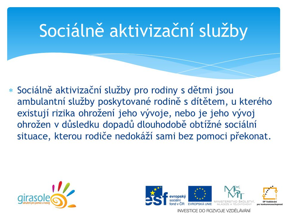 Sociálně aktivizační služby