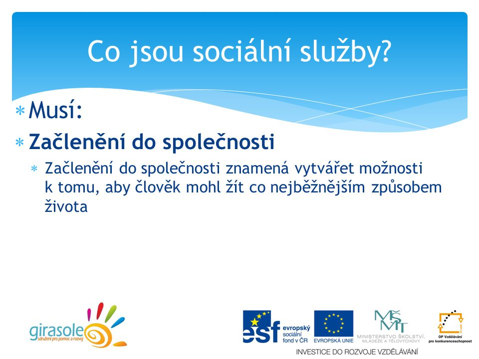 Co jsou sociální služby