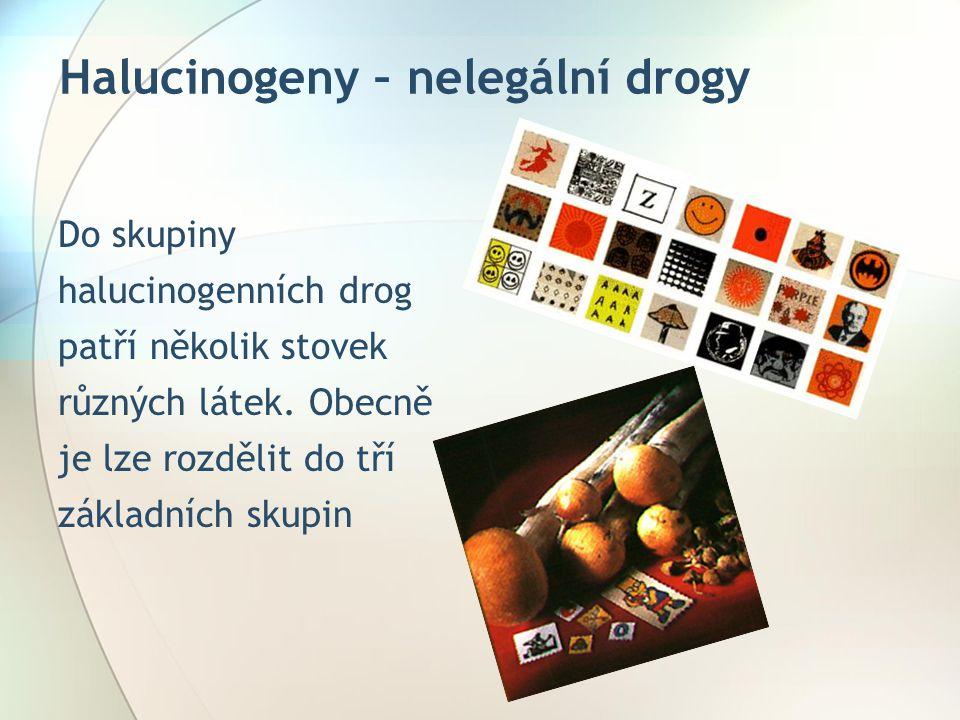 Halucinogeny – nelegální drogy