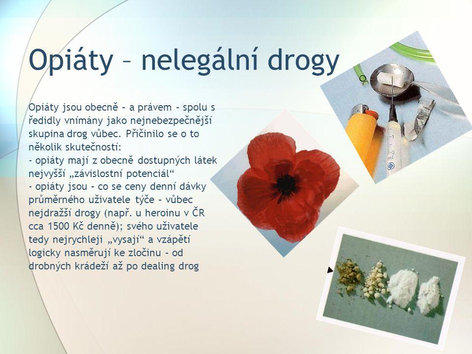 Opiáty – nelegální drogy