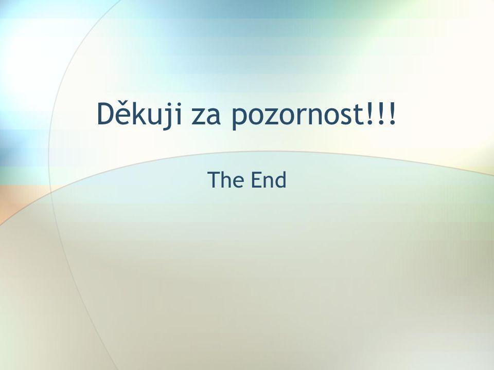 Děkuji za pozornost!!! The End