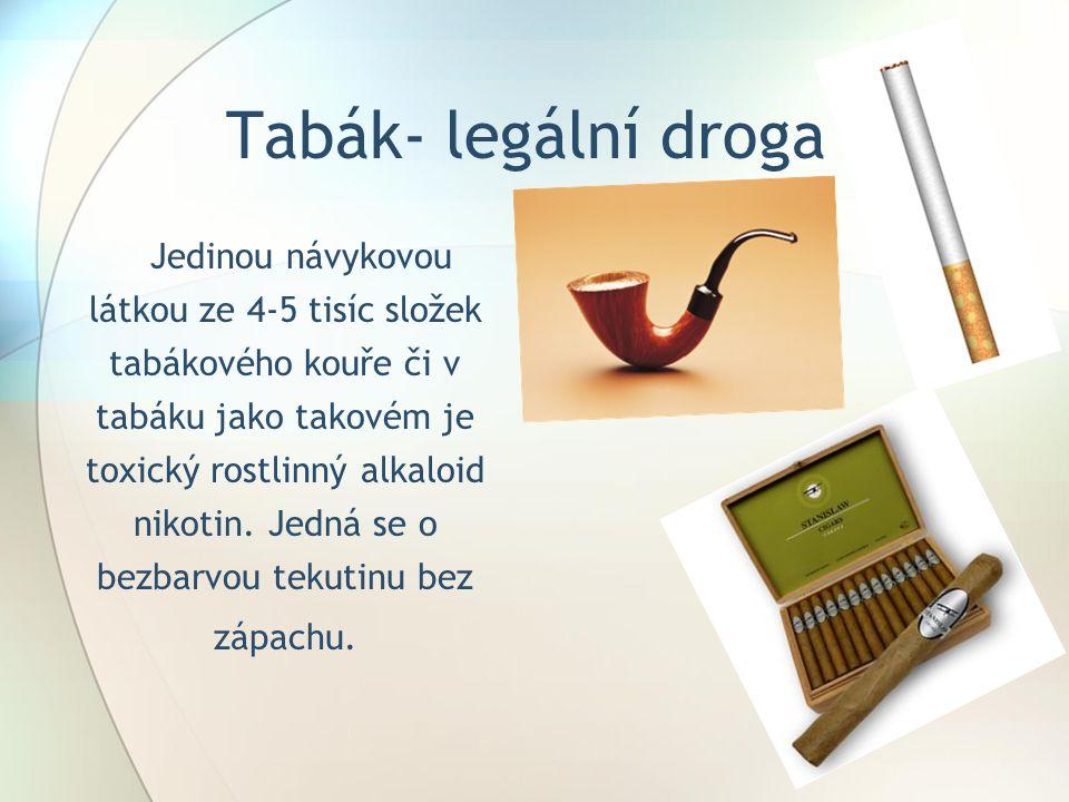 Tabák- legální droga