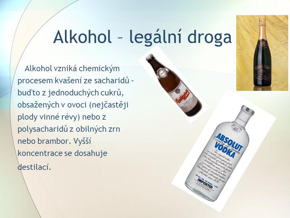 Alkohol – legální droga
