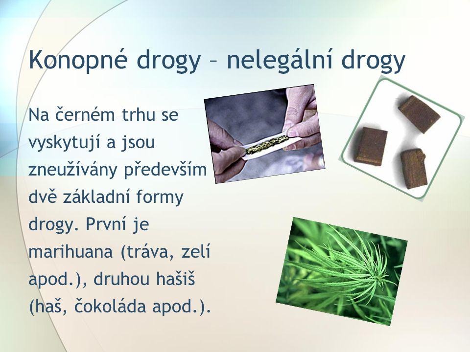 Konopné drogy – nelegální drogy