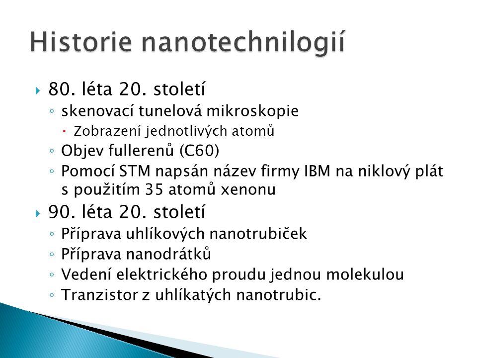 Historie nanotechnilogií