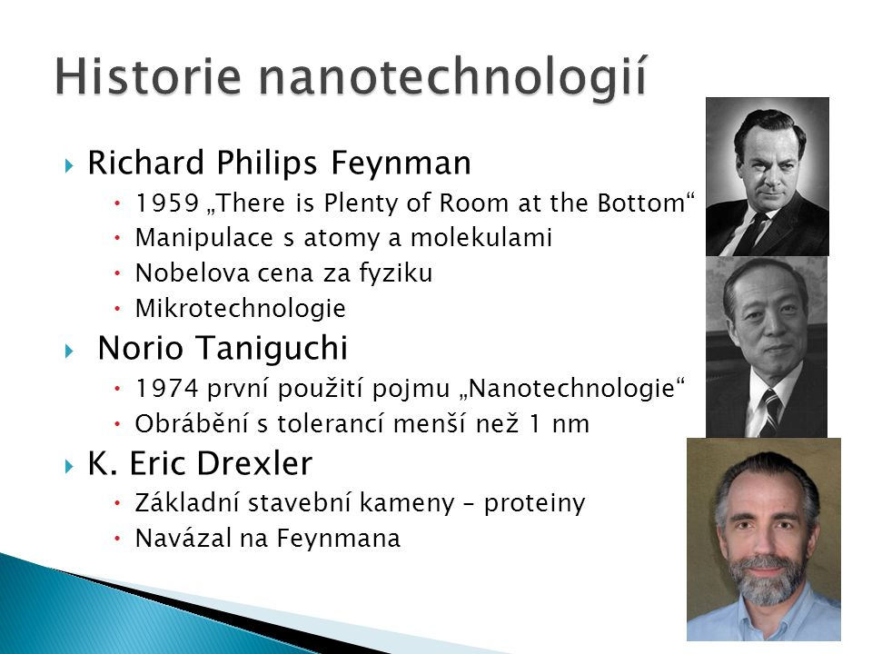 Historie nanotechnologií