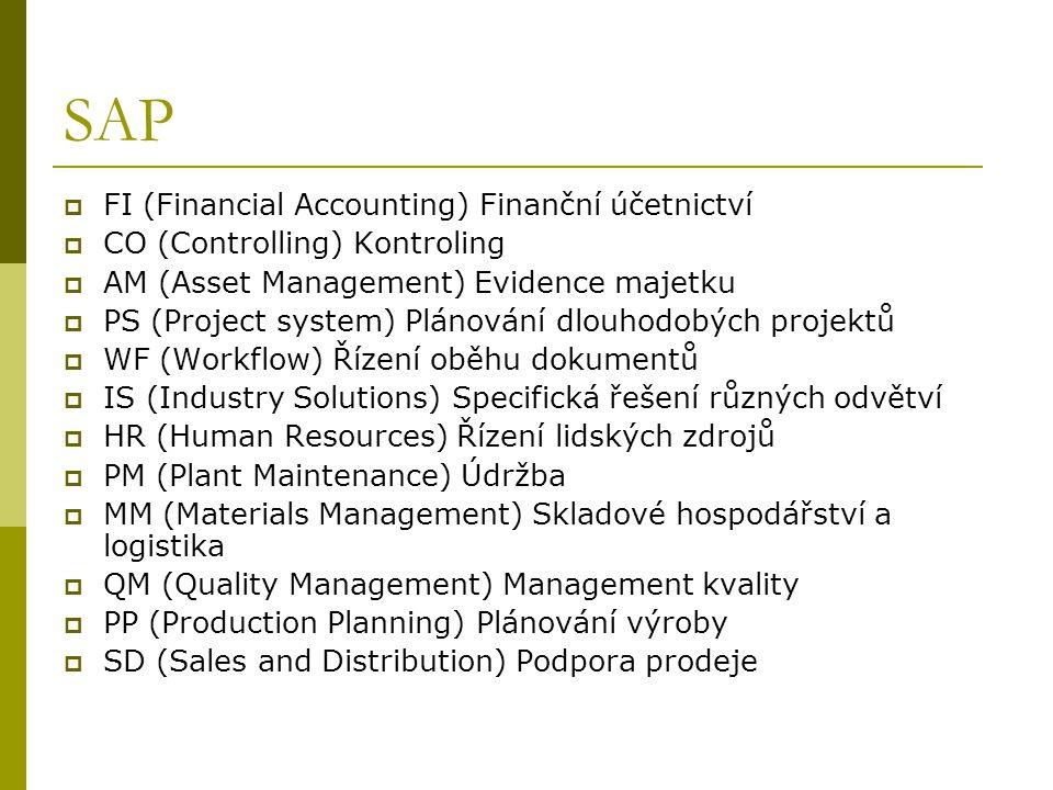 SAP FI (Financial Accounting) Finanční účetnictví