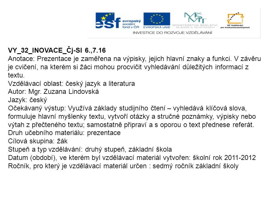 VY_32_INOVACE_Čj-Sl 6.,7.16